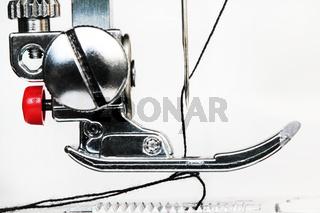 Sewing machine close up detail