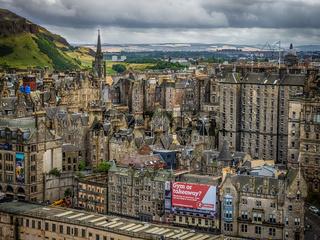View of the centre of Edinburgh