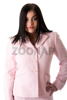 Business woman in pink