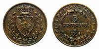 three cents Lire Savoy Copper Coin 1826 Turin Carlo Felice pre-unification of Italy