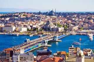 Bridge over Golden Horn in Istanbul