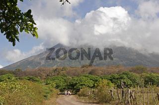 Der noch aktive Vulkan Concepcion auf der Insel Ometepe
