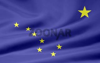 Flagge von Alaska - USA