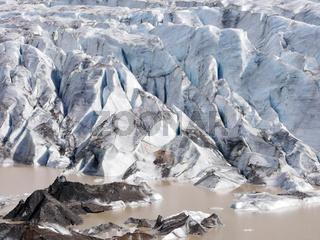 Svinafellsjokull Gletscher im Skaftafell Nationalpark in Island