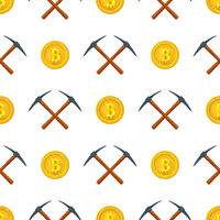 crypto currency mining seamless pattern