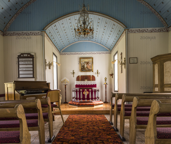 Interior Church Near  Varmahlid Iceland