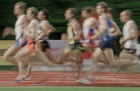 1500m-Lauf der Maenner - Typical (verwischt)