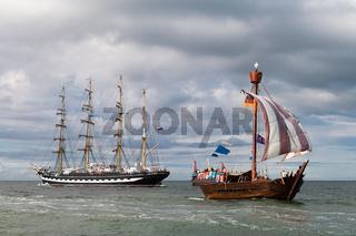 Segelschiffe auf der Ostsee während der Hanse Sail