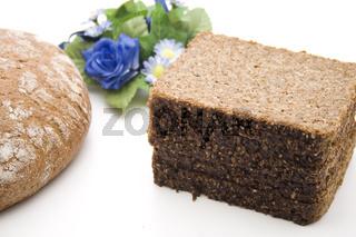 Brot mit Blumen