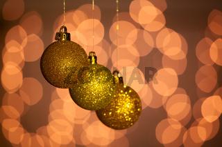 Christmas golden balls