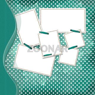 Congratulation green card with border for design