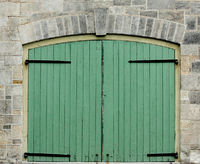 Double Green Doors