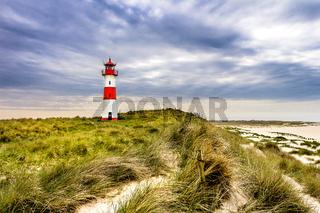Lighthouse List Ost on the island Sylt