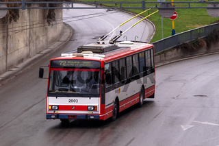 Skoda-Trolleybus in der Slowakei