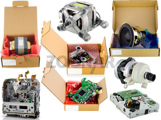 Cardboard spare parts packing set