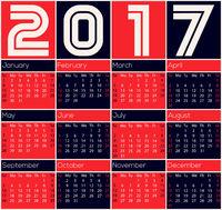 Simple 2017 calendar design