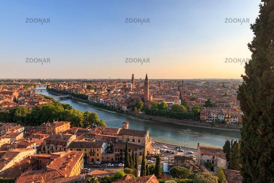 Panoramic view of Verona, Italy