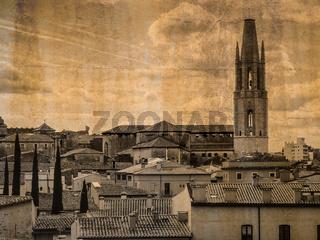 Basilika Sant Feliu, Girona, Spanien