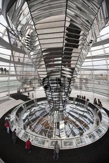 Reichstagskuppel, Innenansicht