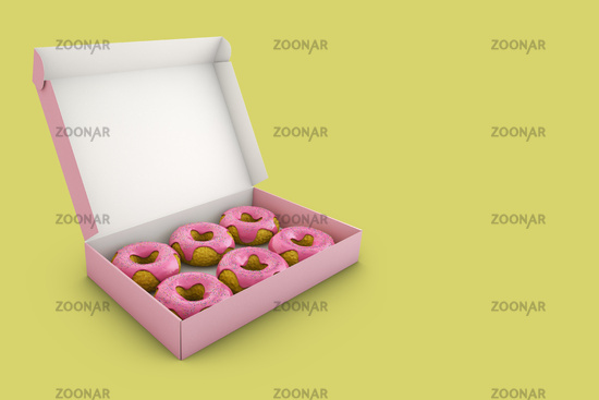 The pink donuts