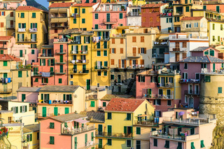 Italy Riviera at Colorful Manarola village, Cinque Terre, Italy