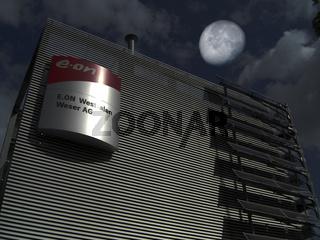 EON Gebäude bei Mondlicht