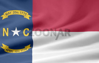Flagge von North Carolina - USA
