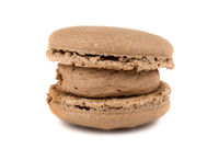 Brown french macaroon cookie