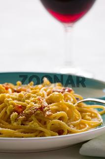 Italian spaghetti carbonara