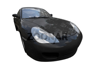 isolated black car on a white background