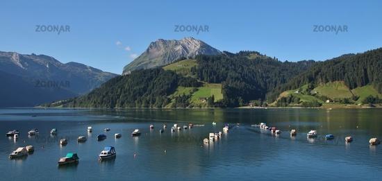 Summer morning at lake Wagital