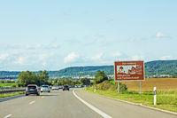 Herrenberg, sign, Autobahn, Germany