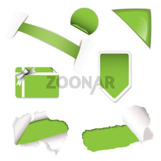 Shop sale elements green