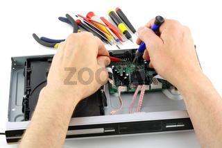 Repair  of the DVD Player