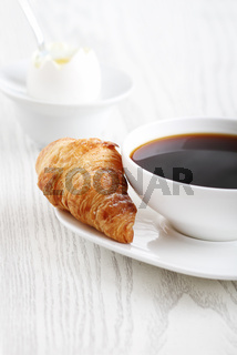 Breakfast with coffee