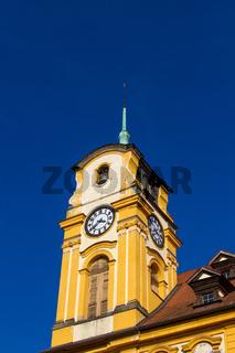 Cheb, Tschechische Republik, der Marktplatz mit Rathaus in der Altstadt