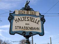 Altes Strassenbahnschild