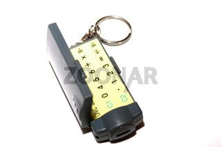 Kleiner Taschenrechner als Schlüsselanhänger