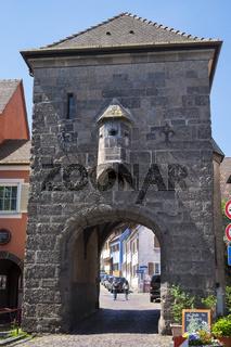 Das mittelalterliche Gutgesellentor in der Altstadt von Breisach