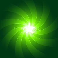 Vibrant green light burst background with shiningcenter star