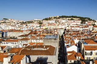 Lissabon mit Burg, Portugal, Lisbon with castle, Portugal
