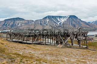 Old cable car in Longyearbyen, Norway