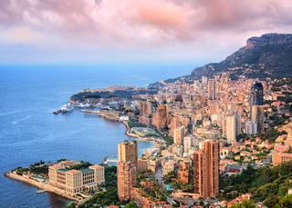 Principality of Monaco at sunrise