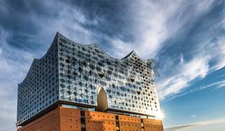 The Elbe Philharmonic Hall or Elbphilharmonie, concert hall in the Hafen City quarter of Hamburg, Germany