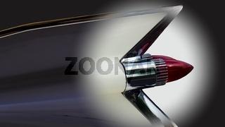 Heckflossenstudie Cadillac Sedan deVille (um 1960)  verfremdet