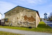 Wandgemaelde Don Quijote und Sancho Panza, Stolzenhagen (Wandlitz), Brandenburg, Deutschland