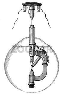 Reynier'sche Lamp, by E. Reynier, a French inventor