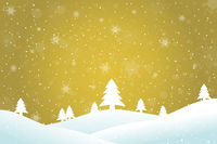 Winterlandschaft gold