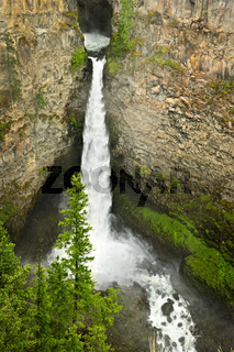 Spahats Falls waterfall in Wells Gray Provincial Park, Canada