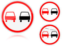 Set of variants a No passing - road sign